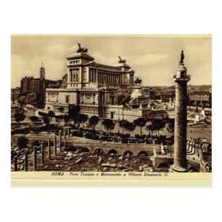 Trajans Forum und ErinnerungsVittorio Emanuele II Postkarte