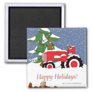 Traktor für Weihnachten Magnets