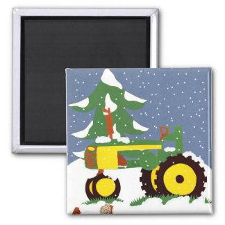 Traktor für Winter Kühlschrankmagnete