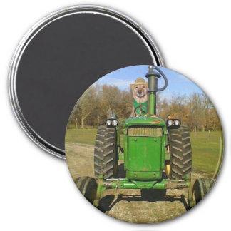 Traktor-Labrador Runder Magnet 7,6 Cm