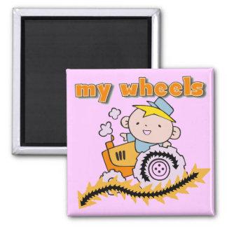 Traktor meine Rad-T-Shirts und Geschenke Quadratischer Magnet