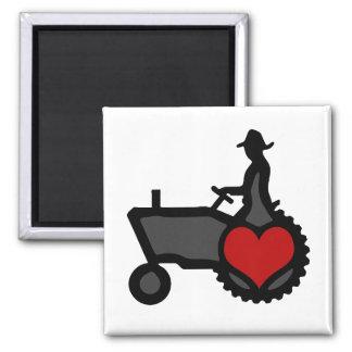 Traktor mit Herz-Liebe das Land Kühlschrankmagnete