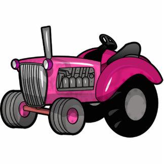 Traktor - Rosa Fotoskulptur Magnet