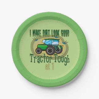 Traktor-starker 1. Geburtstag Pappteller