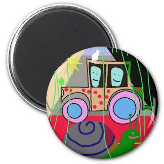 Traktor und Schnecke Runder Magnet 5,7 Cm
