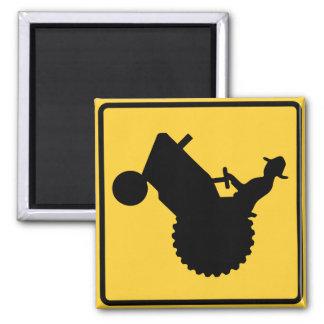 Traktor-Zeichen Quadratischer Magnet