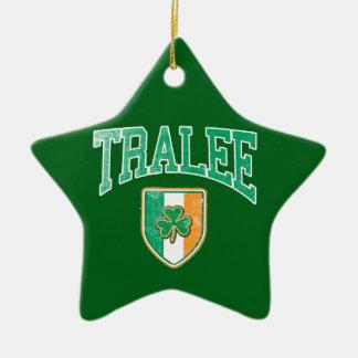 TRALEE Irland Keramik Stern-Ornament