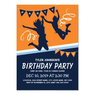 Trampoline-Park-Jungen-Kindergeburtstag-Party Karte