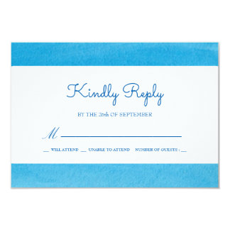 Tranquil Seewatercolor-Hochzeit UAWG Antwort 8,9 X 12,7 Cm Einladungskarte