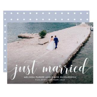 Tranquil verheiratete Foto-Mitteilung der Meer| 12,7 X 17,8 Cm Einladungskarte