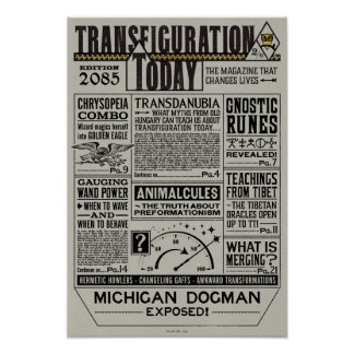 Transfigurations-heute Zeitschrift Poster