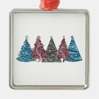 Transgender-Weihnachtsbäume Silbernes Ornament