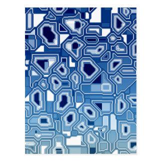 TRANSHUMANISM abstraktes Muster Nº3 Postkarte