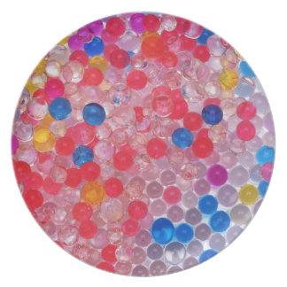 transparente Wasserbälle Teller