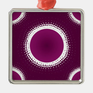 Trauben-lila Eklipse Quadratisches Silberfarbenes Ornament