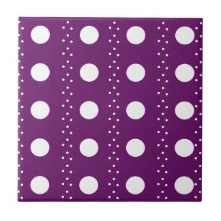 Trauben-Punkt-Streifen Kleine Quadratische Fliese