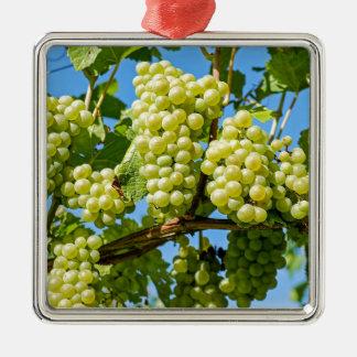 Trauben Quadratisches Silberfarbenes Ornament