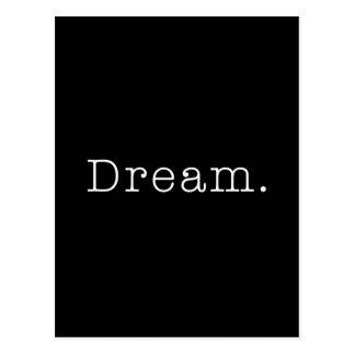 Traum. Schwarzweiss-Traumzitat-Schablone Postkarte