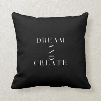Traum und stellen Schwarzweiss-Kissen her Kissen
