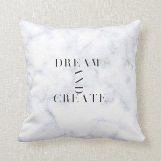 Traum und stellen Sie Marmorkissen her Kissen