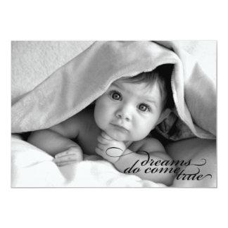 Träume kommen wahr {Geburts-Mitteilung} 12,7 X 17,8 Cm Einladungskarte