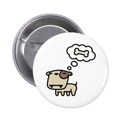 Träumen des Hundes Button