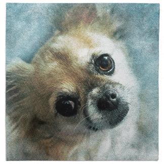 Träumerische Chihuahua Stoffserviette