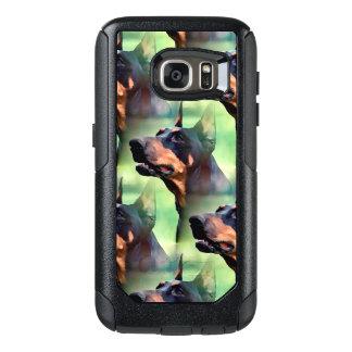Träumerische Dobermannpinscher-Gesichts-Malerei OtterBox Samsung Galaxy S7 Hülle