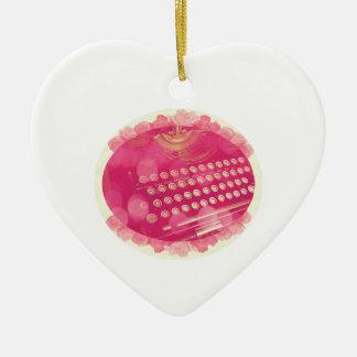 Träumerische rosa Schreibmaschine Keramik Herz-Ornament