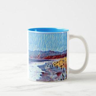 Träumerische Strand-Tasse Zweifarbige Tasse