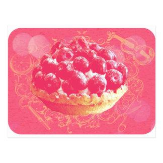 Träumerisches rosa romantisches Blaubeertörtchen Postkarten