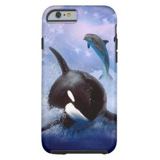 Träumerisches Wal- und Delphinspiel Tough iPhone 6 Hülle