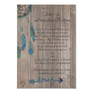Traumfänger-Hochzeit Karte