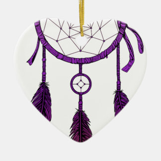 Traumfänger lila keramik Herz-Ornament