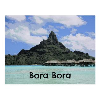 Traumferien Bora Bora Tahiti Atoll-Bildung Postkarten