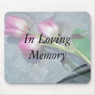Traurig für Ihre Verlust-Rosa-Tulpen Mousepad