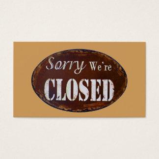 Traurig sind wir geschlossen visitenkarte