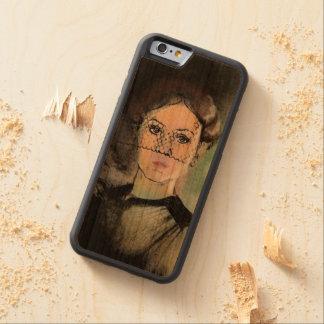 Traurige Dame Bumper iPhone 6 Hülle Kirsche