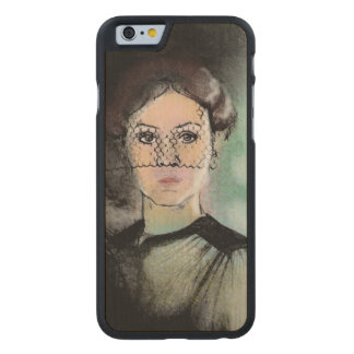 Traurige Dame Carved® iPhone 6 Hülle Ahorn