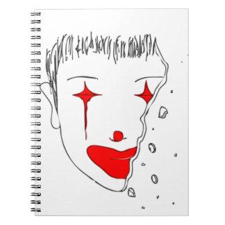 Trauriger Clown Spiral Notizblock