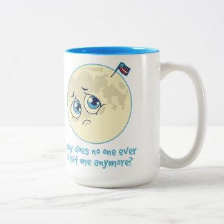 Trauriger Mond Zweifarbige Tasse