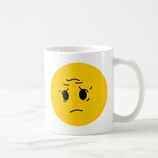trauriger smiley tasse