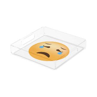 Trauriges Emoji Acryl Tablett