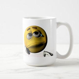 Trauriges Gesicht Kaffeetasse
