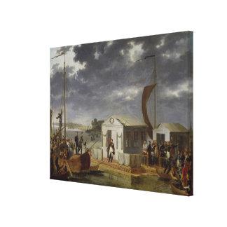 Treffen zwischen Napoleon Bonaparte Gespannte Galeriedrucke