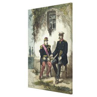Treffen zwischen Otto von Bismarck und Napoleon Gespannter Galerie Druck