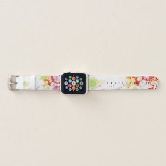 Trendy abstrakter rosa Limoner lila Farben-Tropfen Apple Watch Armband