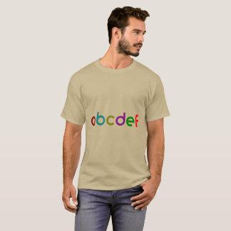Trendy cooler mit Buchstaben gekennzeichneter T - T-Shirt