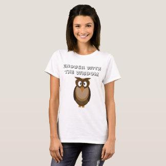 Trendy Klugheits-Eulen-T - Shirt