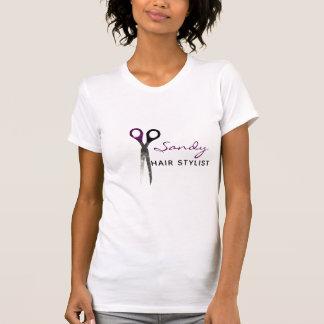 Trendy lila und schwarze Scheren T-Shirt